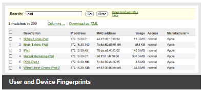 User and Device Fingerprints
